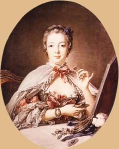 Francois Boucher_Marquise de Pompadour at the Toilet-Table 1758