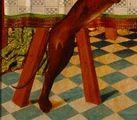 Maestro de los Balbases. Santo Tomás en la India. 1495 Detalle patas