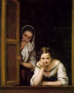 Mujeres en la ventana_Murillo