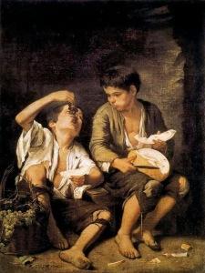 Niños comiendo uvas Murillo