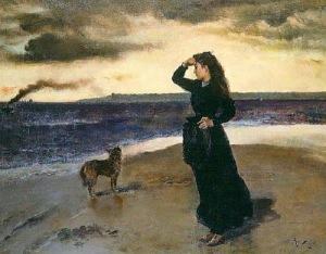 Adiós a la orilla del mar_1891_Alfred Stevens_Bégica