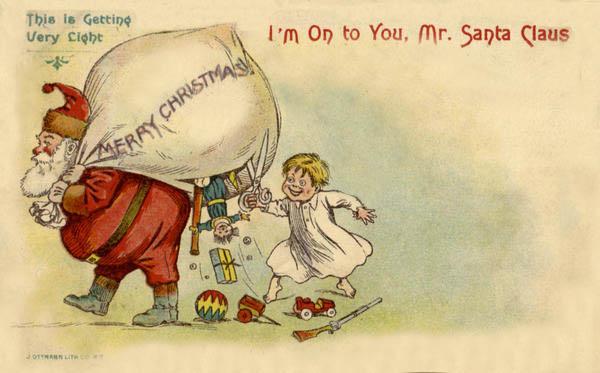 Navidad Santa y Mochila