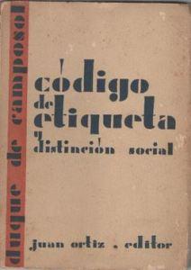 Código de Etiqueta y Distinción social