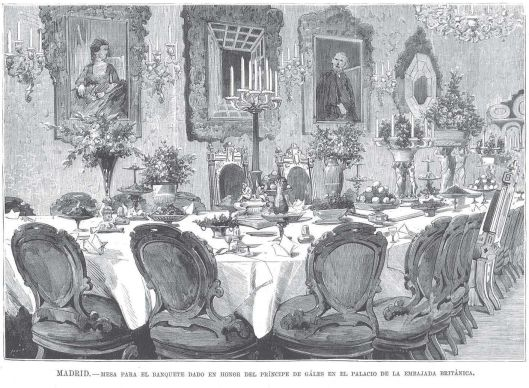 Mesa Banquete Gales