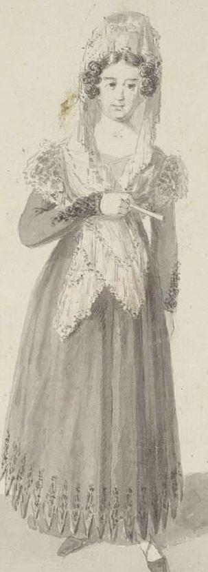 Mujer con mantilla
