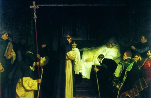 Muerte de Carlos V Ch Degroux Artehistoria