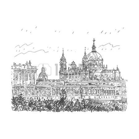 60238783-mar-a-la-real-de-la-almudena-catedral-de-la-santa-y-el-palacio-real-madrid-espa-a-croquis-dibujado-a